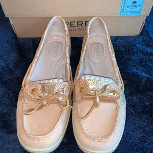 Sperry Angelfish Sand/Gold Cork Boat Shoes